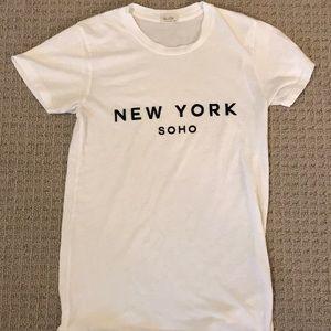 White New York Tee